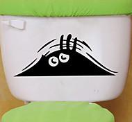 adesivos de parede do estilo decalques de parede a parede do olho vaso sanitário do banheiro decoração pvc adesivos