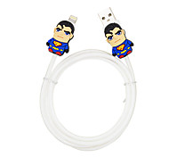 Disney Surperman Charging Cable For Iphone 5G/5S/5C/6/6PLUS Ipad Air 2 Ipad Mini