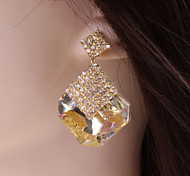 Luxury Classic European Style Rhinestone Imitation Gemstone Earrings
