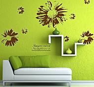 Black Sunflower PVC Wall Sticker Wall Decals