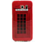 cabine de telefone padrão TPU caso de telefone para hemming galáxia S6 / S6 borda
