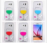 For Samsung Galaxy Case Transparent Case Back Cover Case 3D Cartoon TPU Samsung S6