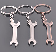 Stainless Steel Tools Sided Wrench Key Chain Ring Keyring(Random Color)