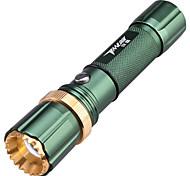 tanlu 3 modo 250 luzes dianteiras / lanternas de LED de bateria 18650 foco ajustável / à prova d'água / recarregáveis / fácil de