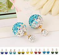 Fashion Full Crystal Stud Ball Earrings(1 pair)(Assorted Colors)