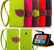 High Quality Wallet Card Holder PU Leather Flip Case Cover for Nokia Lumia N530(Assorted Colors)