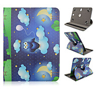 Owl Pattern 360 Degree Rotation High Quality PU Leather with Stand Case for 10 Inch Universal Tablet