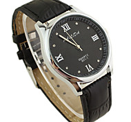 Men's Fashion Style PU Band Quartz Analog Wrist Watch