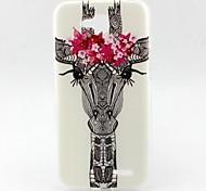 Giraffe Petal Pattern TPU Material Soft Phone Case for LG L90 D405