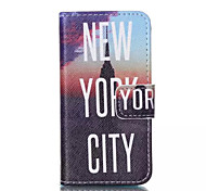 New York City Pattern PU Leather Painted Phone Case For iPhone 4/4S