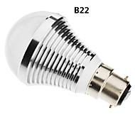 b22 / e27 7w 15x5730smd 560-630lm 6000-6500K luz blanca natural bulbo llevado bola (85-265v)