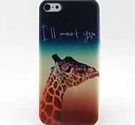 girafe cas de téléphone modèle de TPU pour iphone 5c