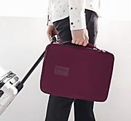 Travel Travel Bag Waterproof / Portable Travel Storage Polyester Orange / Wine / Grey / Blue / Pink
