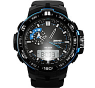 SKMEI® Men's Tough Design Sport Watch Analog-Digital Dual Time Zones/Calendar/Chronograph/Alarm Cool Watch Unique Watch