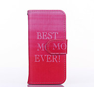 Pink Sky Pattern PU Leather Full Body Case with Stand for iPhone 5C
