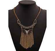 Alloy Gold Plated With Tassel Cubic Zirconia Butterfly Fashion Necklace