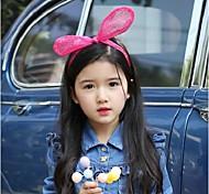 Orecchiette Headdress Bow Headband Lace Gauze Rabbit Ears Hair Bands Children Baby