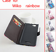 Flip Leather Magnetic Protective Case For Wiko Rainbow(Assorted Colors)