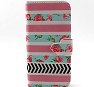 Rose Pattern PU Leather Case with Card Slot and Stand for Samsung Galaxy S4 mini/S3mini/S5mini/S3/S4/S5/S6/S6edge