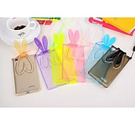 Transparent Rabbit Ears Pattern TPU Protective Case with Stand for OPPO R7 (Assorted Colors)