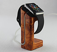 For Apple Watch  Charger Stand Gold Peach Wooden Material