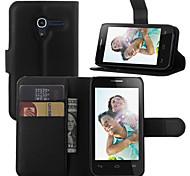 litchi intorno stallo aperto fondina telefono adatto per Alcatel One Touch pop d3 ot4035x ((colori assortiti)