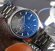 Men's Dress Watch Japanese Quartz Calendar Stainless Steel Wrist watch Cool Watches Unique Watches