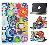 dromen bloempatroon 360 graden roating full body case met standaard voor Samsung Galaxy Tab een 9,7 T550 / 8 T350