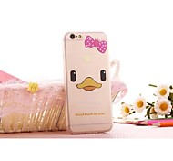 Cute Duck Slim Transparent Mobile Phone Soft Shell for iPhone 6/6S(Assorted Colors)