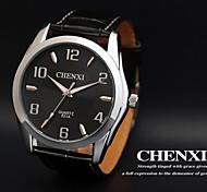 CHENXI® Men's Dress Watch Simple Design Black Leather Strap