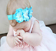 Baby Headband, Baby Headbands, Flower Headband, Pearl , Prom Headband, Easter Headband, Baby Girl , Blue Flower