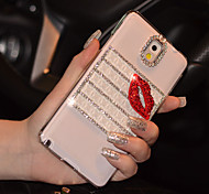 Red Lip Diamond Back Case for Samsung Note3
