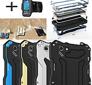 R-JUST Gundam 100% Waterproof Metal Aluminum Gorilla Glass Case +Sports armband for iPhone 6 4.7""