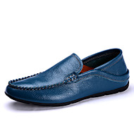 Men's Shoes Office & Career/Casual Leather Loafers Blue/Brown/Orange