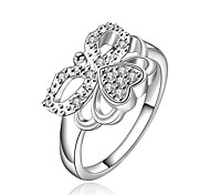 Women's Vintage Butterfly 925 Silver Plated Ring