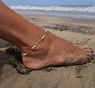 Fashion Handmade Summer Beach Simple Bead Anklet(1pc)