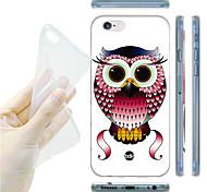 Cartooneulenmuster TPU weiche Tasche für iPhone 6