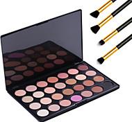 Earth Tone 28 Color Neutral Warm Eyeshadow Cosmetic Palette Eye Shadow Makeup Kit + 4PCS Pencil Makeup Brush