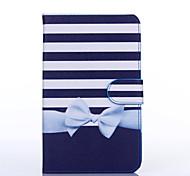 bowknot Muster PU-Leder Ganzkörper-Fall mit Standplatz für Samsung Galaxy Tab 3 lite t110
