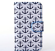 Anchor Pattern PU Leather Full Body Case with Stand for Multiple Samsung Galaxy S5Mini/S4Mini/S3Mini