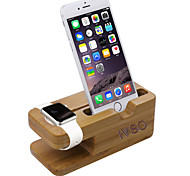 IVSO iWatch Bamboo Wood Charging Stand For Apple Watch & iPhone 38mm and 42mm and iPhone