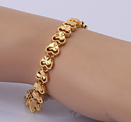 China Gold Series Bracelet 3 Chain & Link Bracelets Wedding/Party/Daily/Casual 1pc