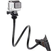 Adjustable Clamp Mount Jaws Clip Arm Neck Tripod and Mount Holder Adapter Screw for GoPro Camera