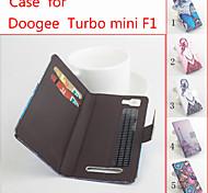 de cuero flip caso protector magnético para turbo doogee Mini f1 (colores surtidos)