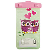 Owl Pattern Transparent Waterproof Touchscreen for Samsung Galaxy Note 4 / Note 3 / Note 2