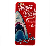 English Blue Whale Feel Thin TPU Case for iphone 6