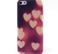Pink Love Pattern TPU Material Phone Case for iPhone 5C