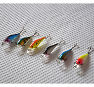 65mm 4.5g Mini  Minnow Hard Bait Fishing Lure Set (6pcs/set)