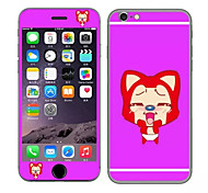 Cute Ali doll Pattern Front and Rear Toughened Cartoon Membrane for iPhone 6S/6(Assorted Colors)