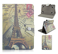 Eiffel Tower Pattern High Quality  PU Leather with Stand Case for 10 Inch Universal Tablet